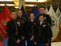 Camp Perry Team in their dress blues